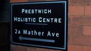 Prestwich Holistic Centre Therapy Room Signage