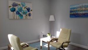 picture of calm therapy room at our centre where one can have health health treatment in Manchester