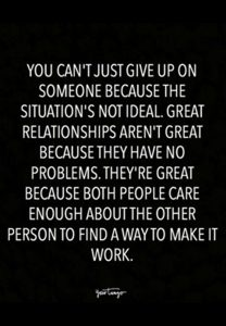 Relationship Problems quote with sound advice